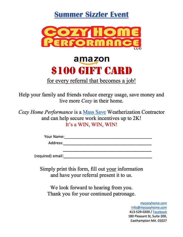 Refer a friend, receive a $100 Amazon Gift Card - Cozy Home ...